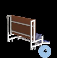 Zoom sur barres de renfort du plancher