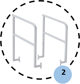 Vue générale de deux gardes-corps