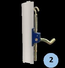 Zoom sur système de tension par crémaillère
