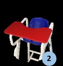 Zoom sur tablette de la chaise