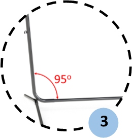 Zoom sur l'inclinaison du poteau