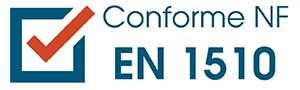 Conforme NF EN 1510